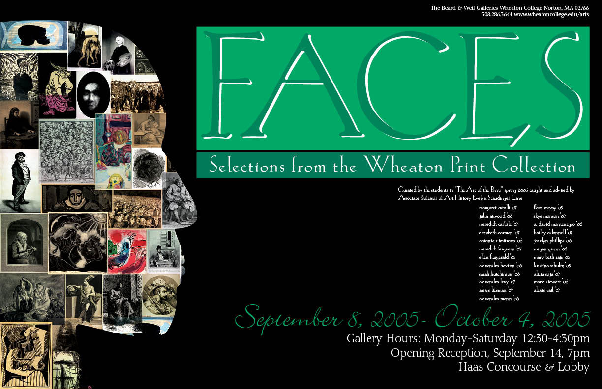 Faces: Selected Prints from the Wheaton College Collection (poster)