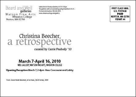 Christina Beecher Postcard Mailer (back)