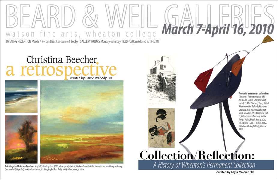 Christina Beecher/Collection Reflection poster