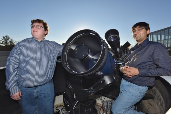 John Scarpaci '17 spent his summer peering into neutron stars and black holes under the guidance of Assistant Professor of Physics and Astronomy Dipankar Maitra.