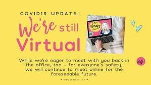 """""""we're still virtual"""" image from Mallory Grimste"""